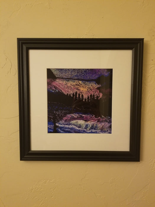 Framed Print of Painting, titled Nightfall