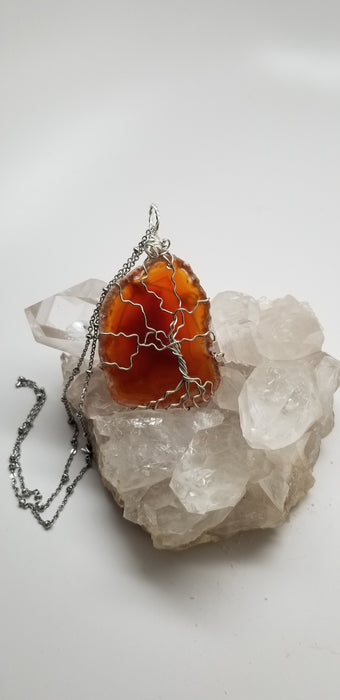 Tree of Life Agate Pendant