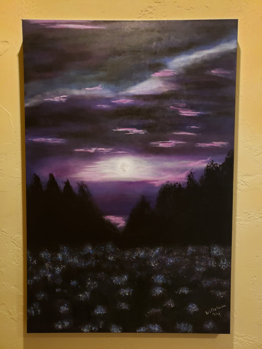 Moon Rise, original acrylic painting