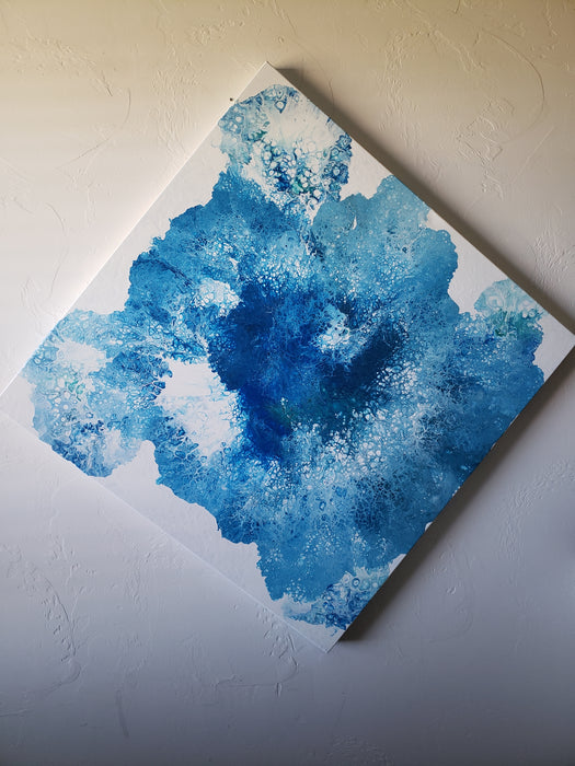 Blues - original Acrylic pour painting