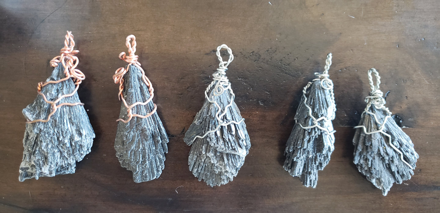 Black Kyanite Pendant