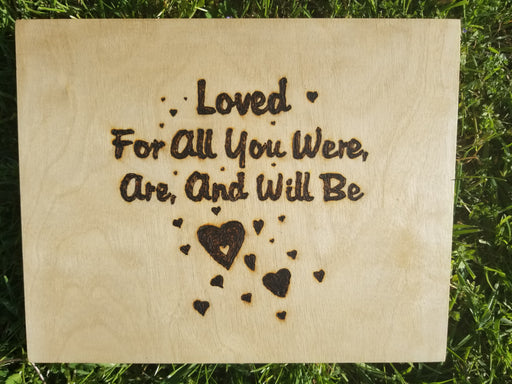 Loved For All You Were Are And Will Be - Wooden Plaque