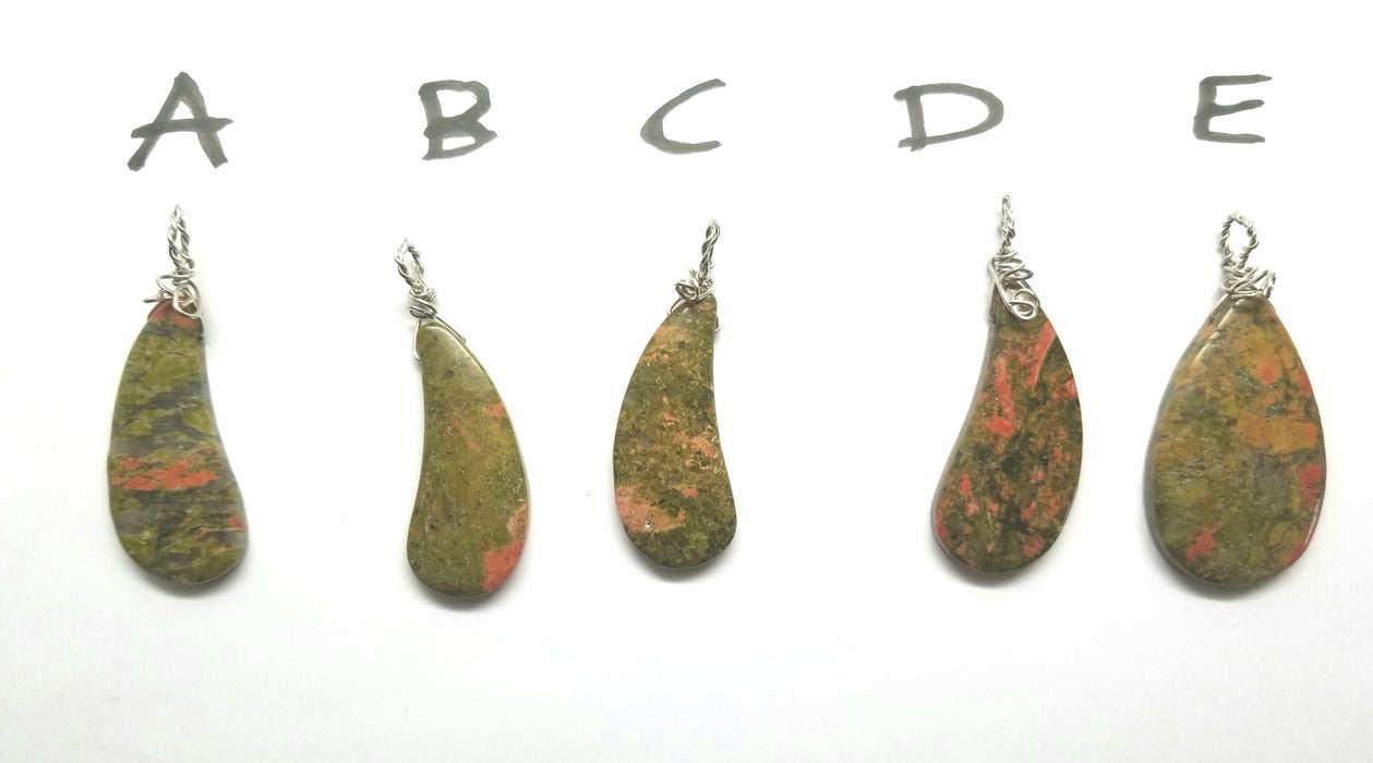 Unakite Pendants - handmade by Wilhelmina