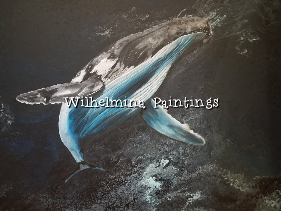 """King of the Seas"", original acrylic painting by Wilhelmina"
