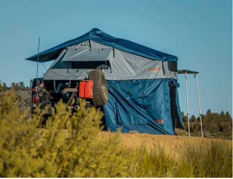 tacoma with vagabond roof top tent and annex