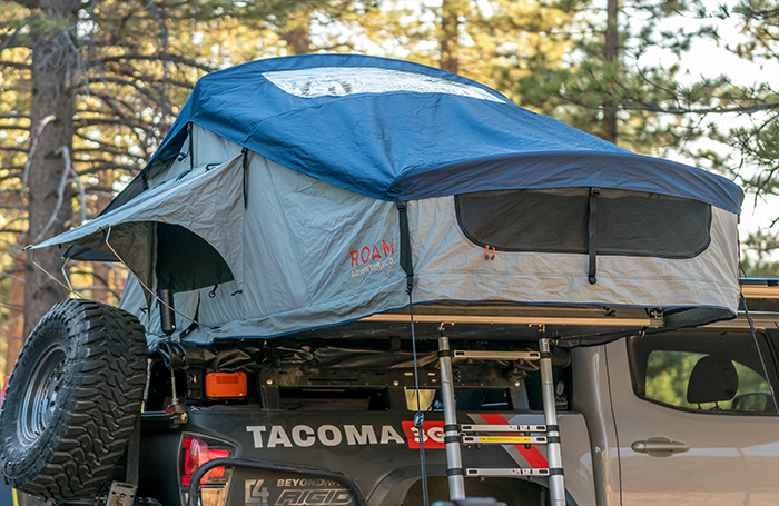 Rooftop tent on a Toyota Tacoma truck