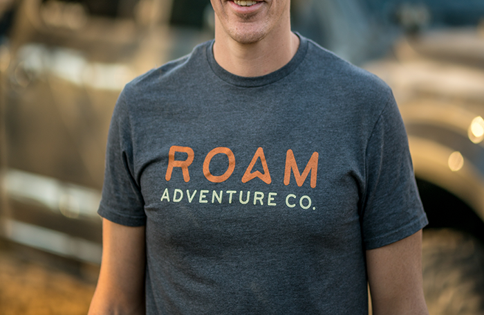 Roam Adventure Co. t-shirt and other merchandise