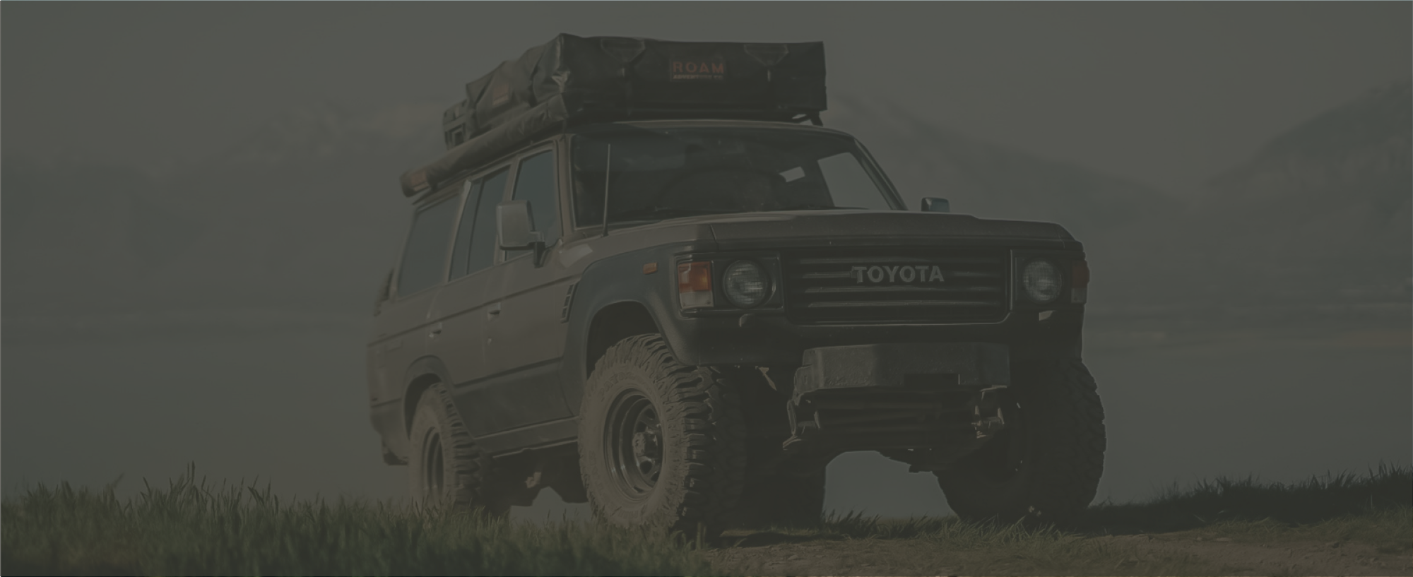 Rooftop tent on Toyota Land Cruiser