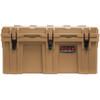 Heavy-duty ROAM 160L Rugged Case shown in Desert Tan
