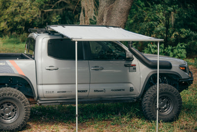 Rooftop Awning in Slate shown on a Toyota Tacoma truck