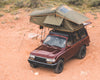 Vagabond Rooftop Tent in Forest Green Hyper Orange