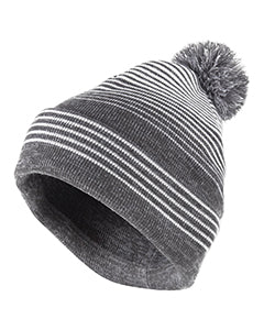 Holloway Acrylic Rib-Knit Constant Beanie with Pom Pom