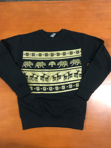 Crane Deer 2019 Holiday Crew Neck Sweatshirt