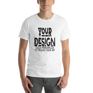 Customizable Front and Back Short Sleeve T-Shirt
