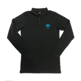 Men's Oakland Tree Heart Long Sleeve Polo