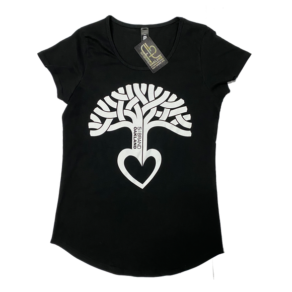 Women's Oakland Heart Tree Scoop Neck T-Shirt