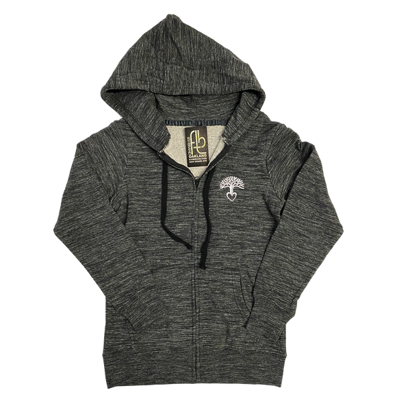 Women's Oakland Tree Heart Zip Up Hoodie