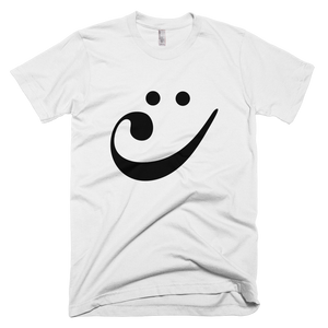 Happy Bass Clef Smiley T-Shirt