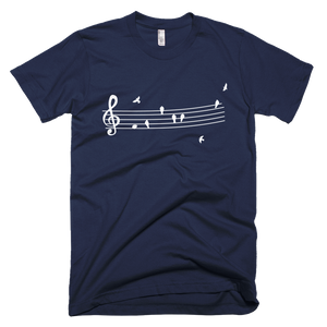Birds Music Wire Art T-Shirt