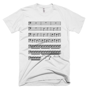 Jaws Music Bass Clef Funny T-Shirt