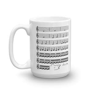 Jaws Music Treble Clef Funny Mug