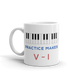 Practice Makes Perfect Piano Mug