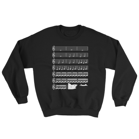 a7f81e5e Jaws Music Treble Clef Funny Sweatshirt