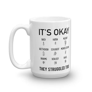 It's Okay Composers Funny Music Mug