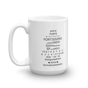 Musical Terminology Lesson Mug