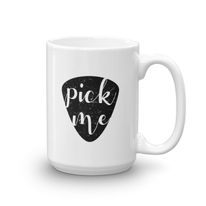 Pick Me Funny Guitar Pick Mug