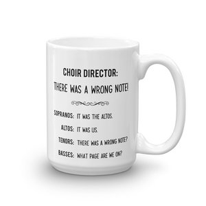 Choir Director Funny Mug