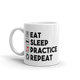 Eat Sleep Practice Repeat Music Mug