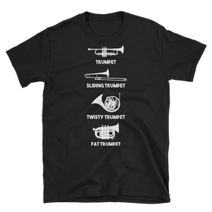 Trumpet Types Funny Music T-Shirt