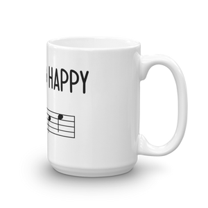 Put On A Happy FACE Music Mug