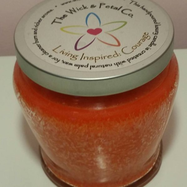 Living Inspired COURAGE 14 oz Scented Palm Wax Candle