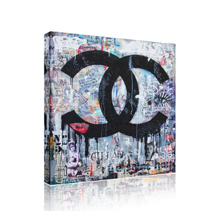 Chanel Funky Canvas Print Art