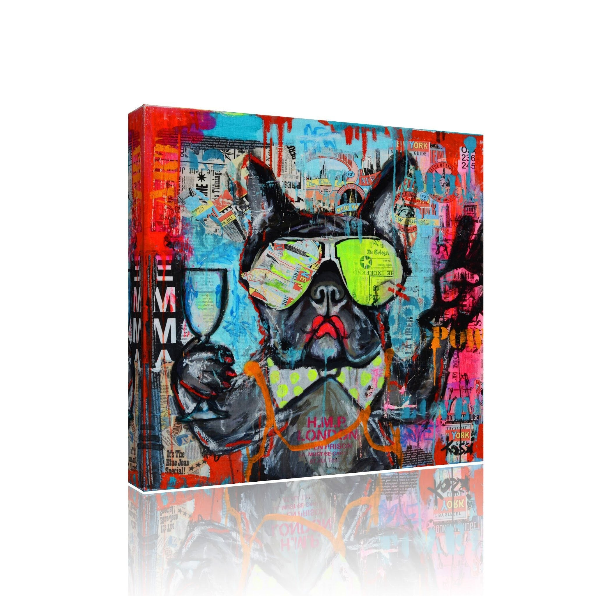 Terrier Funky Canvas Print Art
