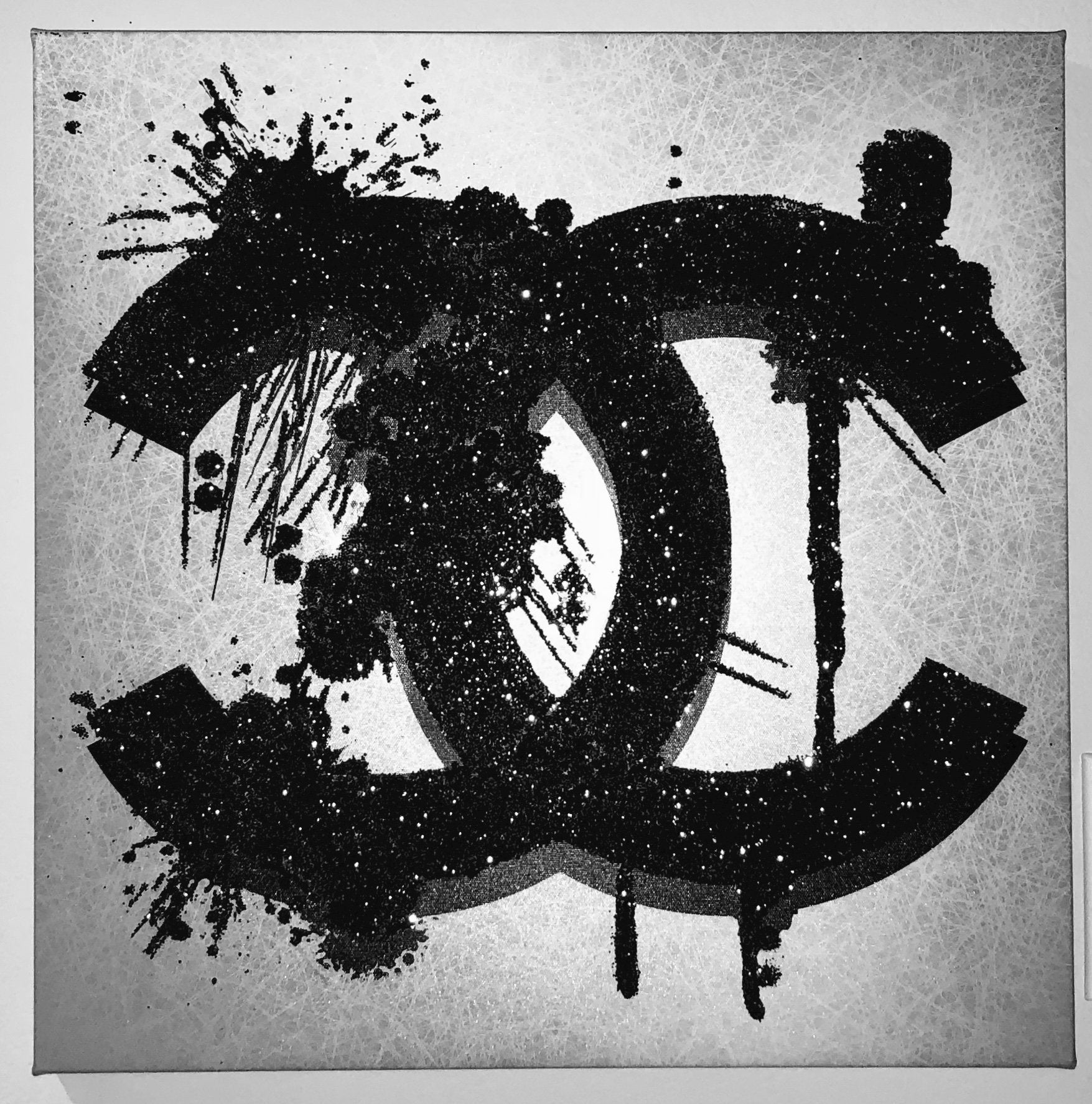 Chanel Diamond Dust Embellished Canvas Print Art