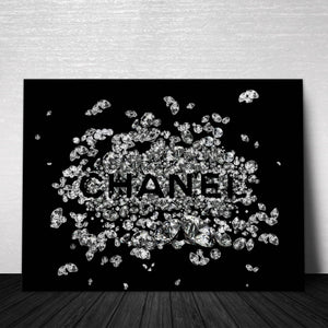 Chanel Diamond Canvas Print