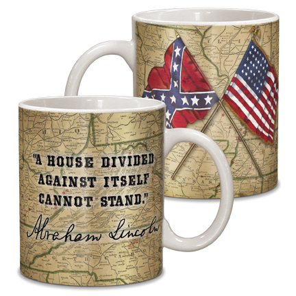 Civil War Map Ceramic Mug