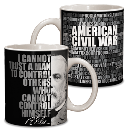 Robert E. Lee Graphic Ceramic Mug