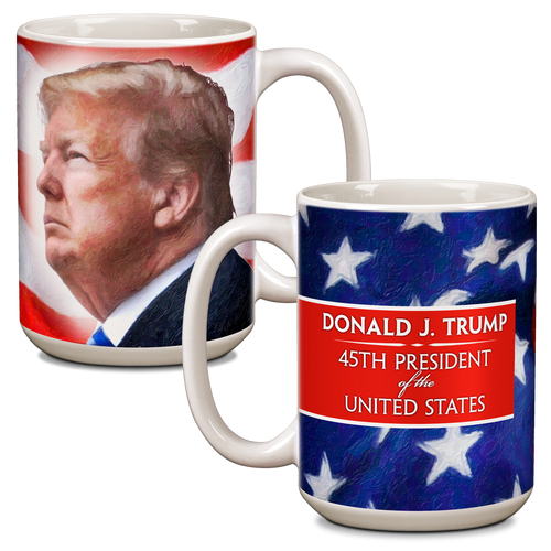 President Donald Trump Ceramic 15oz Mug CG-001-039