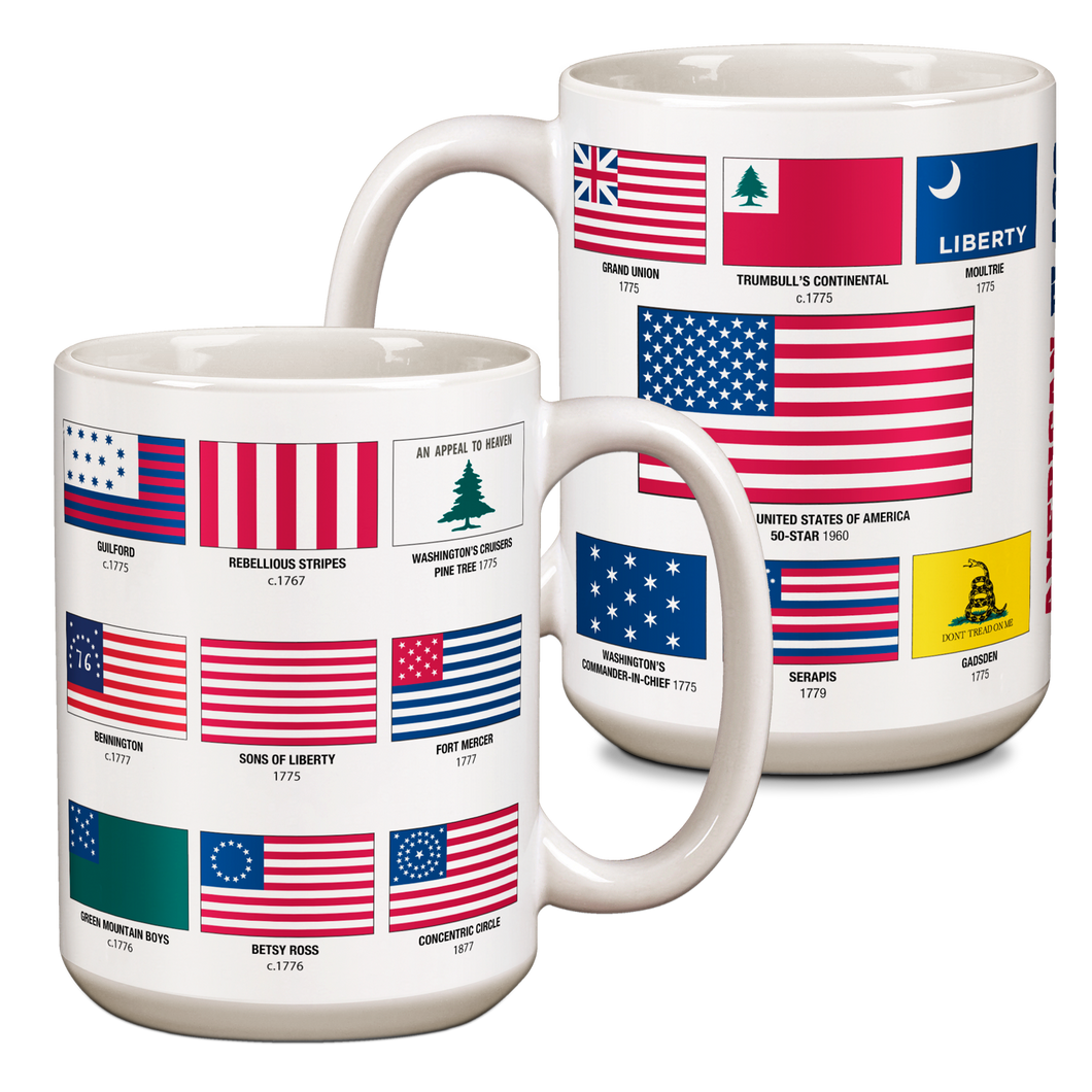 American Flags Ceramic 15oz Mug CG-001-046