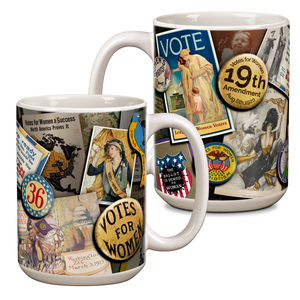 Women's Vote Anniversary Ceramic 15oz Mug CG-001-047