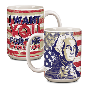 "George Washington ""I Want You"" Ceramic 15oz Mug CG-001-048"