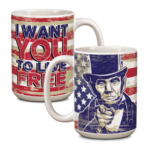 "Abe Lincoln ""I Want You"" Ceramic 15oz Mug CG-001-049"