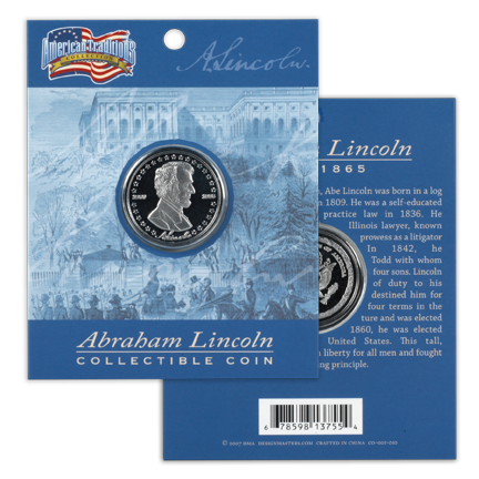 Abraham Lincoln Collectible Coin  CO-001-010