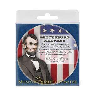 Gettysburg Address Ceramic Coaster