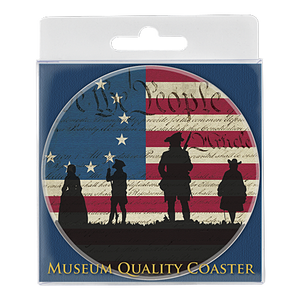 We the People Silhouette Ceramic Coaster