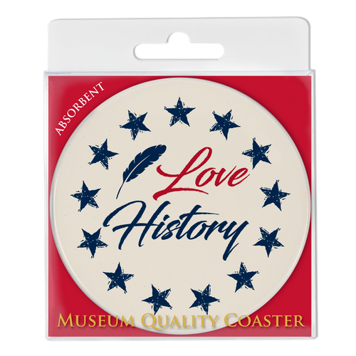 I Love History! Absorbent Coaster DA-001-015